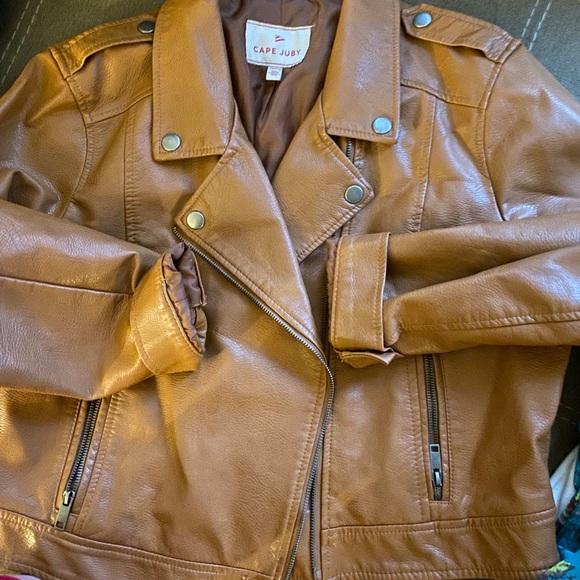 Jackets & Blazers - Tan leather jacket